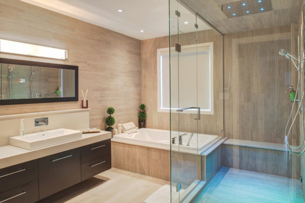 Salle de bains moderne mélamine
