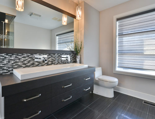 Salle de bains contemporaine mélamine
