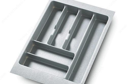 Diviseur à couverts plastique gris